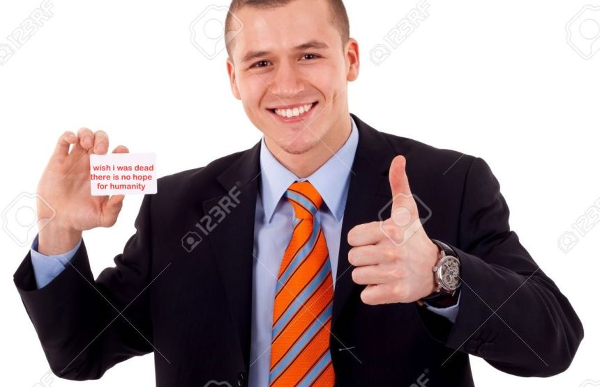 7939050-Business-man-giving-thumbs-up-for-the-card-he-is-holding-Stock-Photo