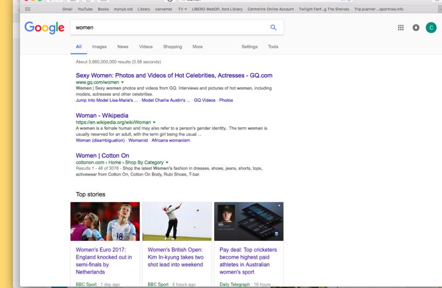Googling 'women'